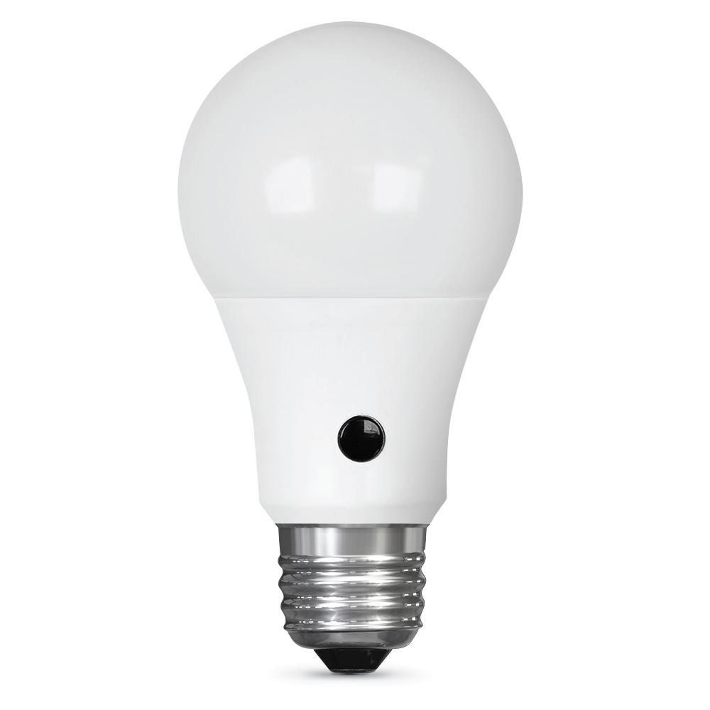 60W Equivalent Daylight A19 IntelliBulb Dusk to Dawn LED Light Bulb (Case of 12)
