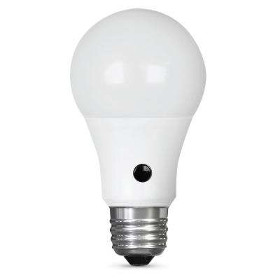 IntelliBulb 60W Equivalent Soft White (2700K) A19 LED Dusk To Dawn Light Bulb  sc 1 st  Home Depot & A19 - Indoor/Outdoor - Automatic On/Off Sensor - LED Bulbs - Light ...