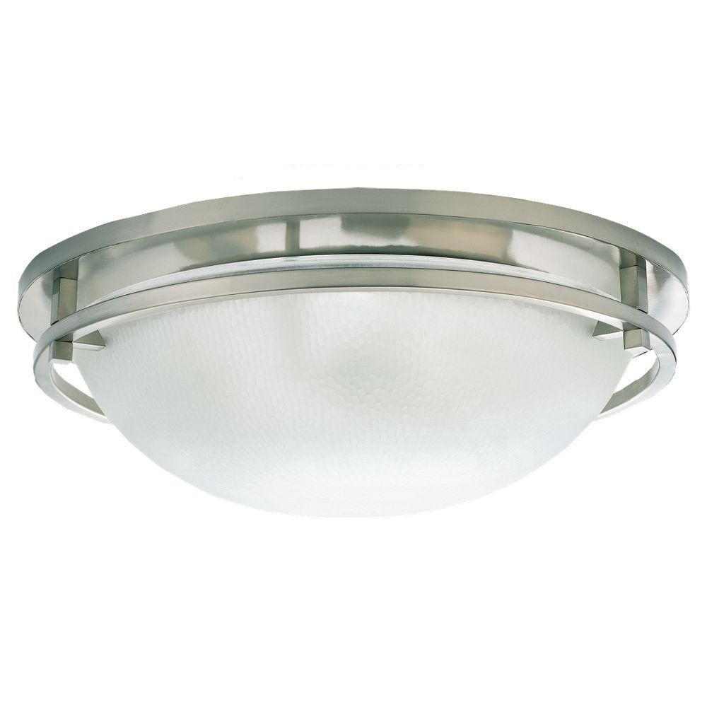Sea Gull Lighting Eternity 3-Light Brushed Nickel Flushmount