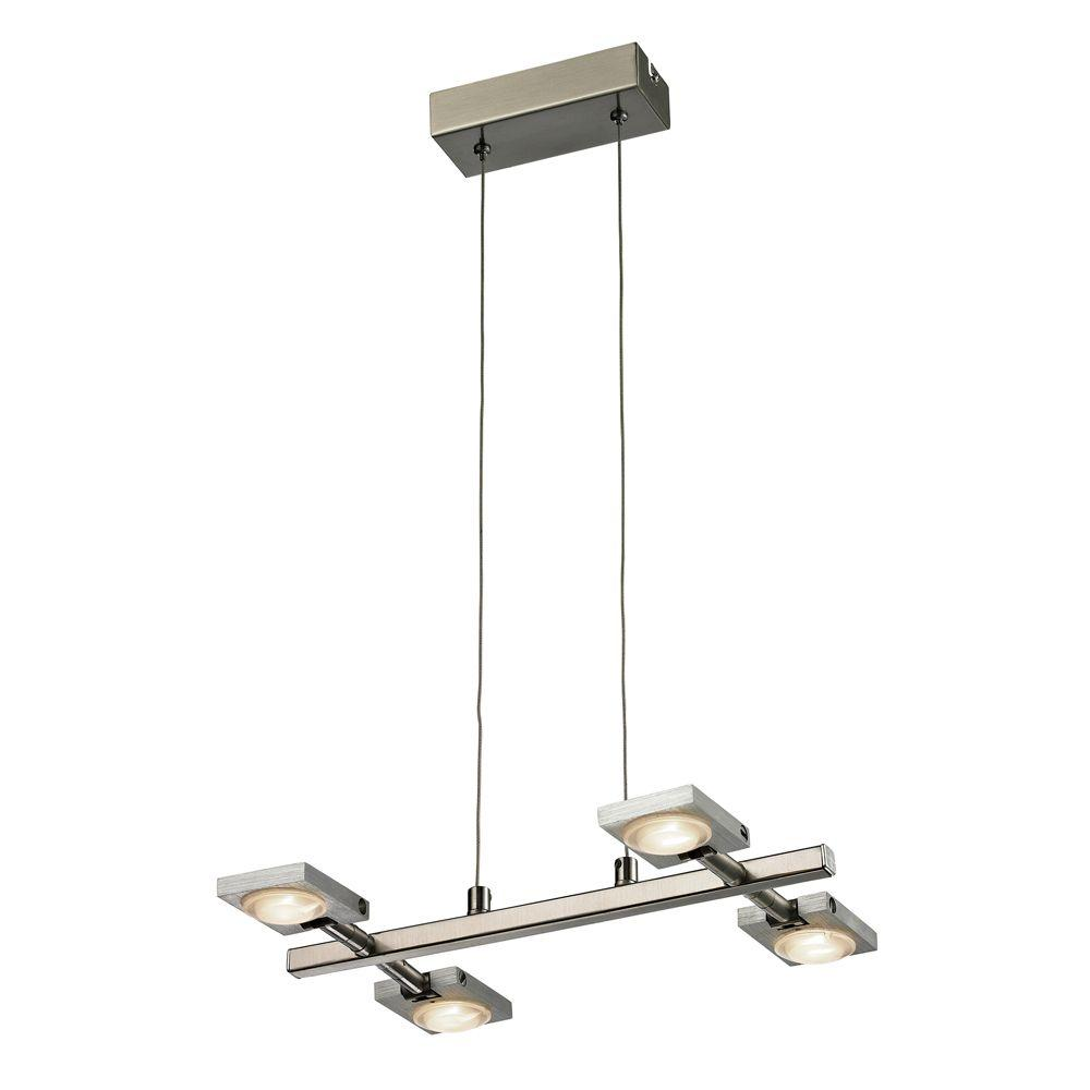 Titan Lighting Reilly 4-Light Brushed Nickel and Brushed Aluminum Chandelier