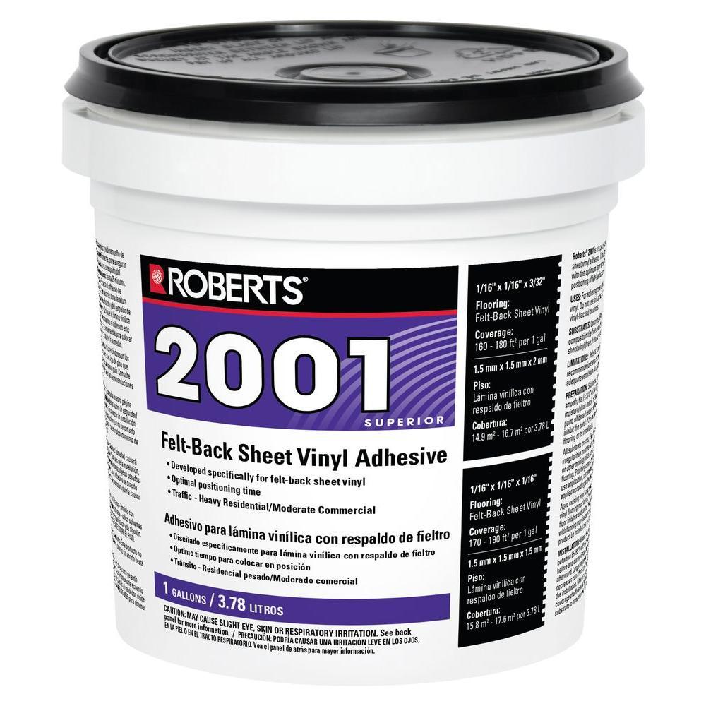 2001 1 Gal. Felt-Back Sheet Vinyl Glue Adhesive, Superior Grade