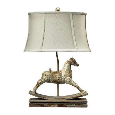 Carnavale 24 in. Clancey Court Rocking Horse Table Lamp