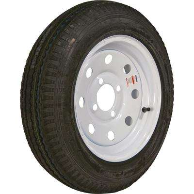 480-12 K353 BIAS 990 lb. Load Capacity White 12 in. Bias Tire and Wheel Assembly