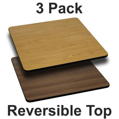 Natural/Walnut Table Top (Set of 3)