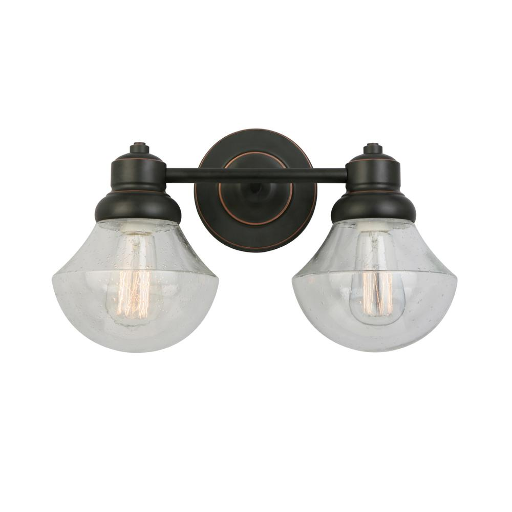 Sawyer 2-Light Oil Rubbed Bronze Sconce