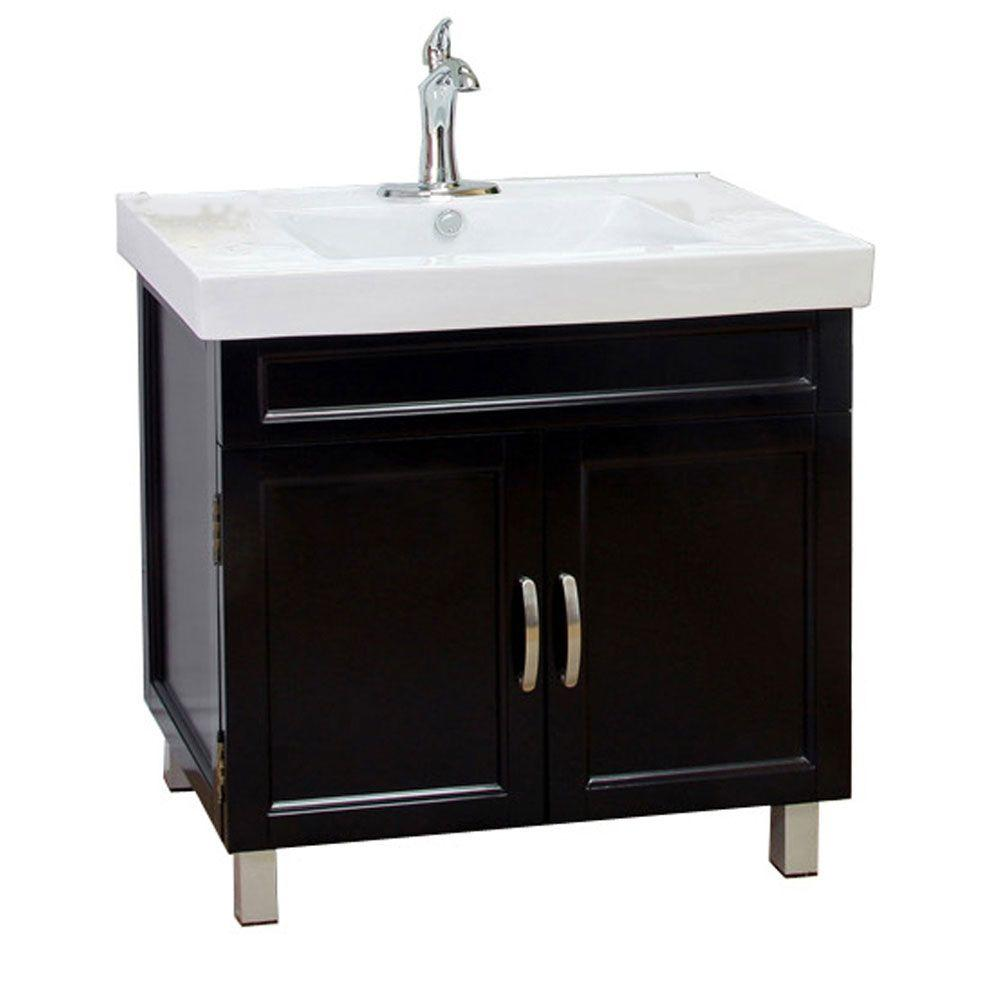 black bathroom sink cabinet bellaterra home flemish b 32 in single vanity in black 12327