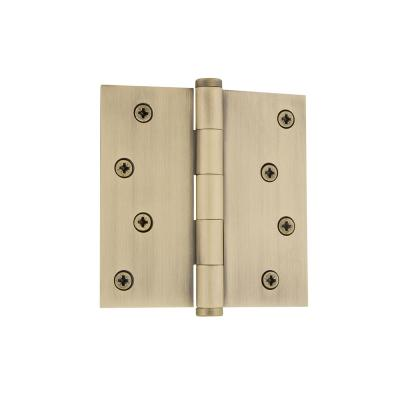 Onward 4 in  x 4 in  Brass Butt Hinge-822BB - The Home Depot