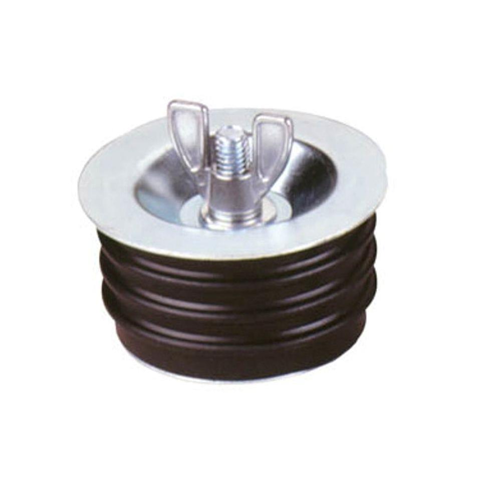 Test tite in metal wingnut plug case of