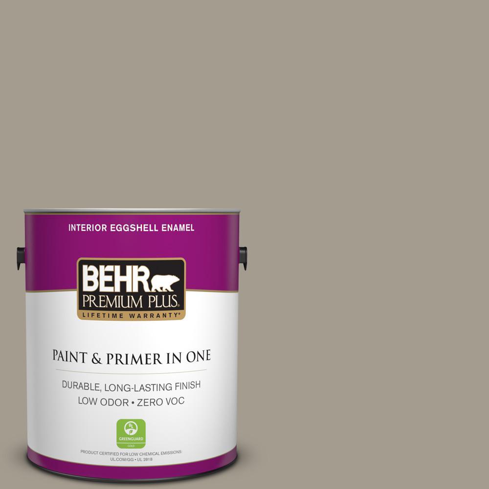 BEHR Premium Plus 1-gal. #720D-4 Ashwood Zero VOC Eggshell Enamel Interior Paint