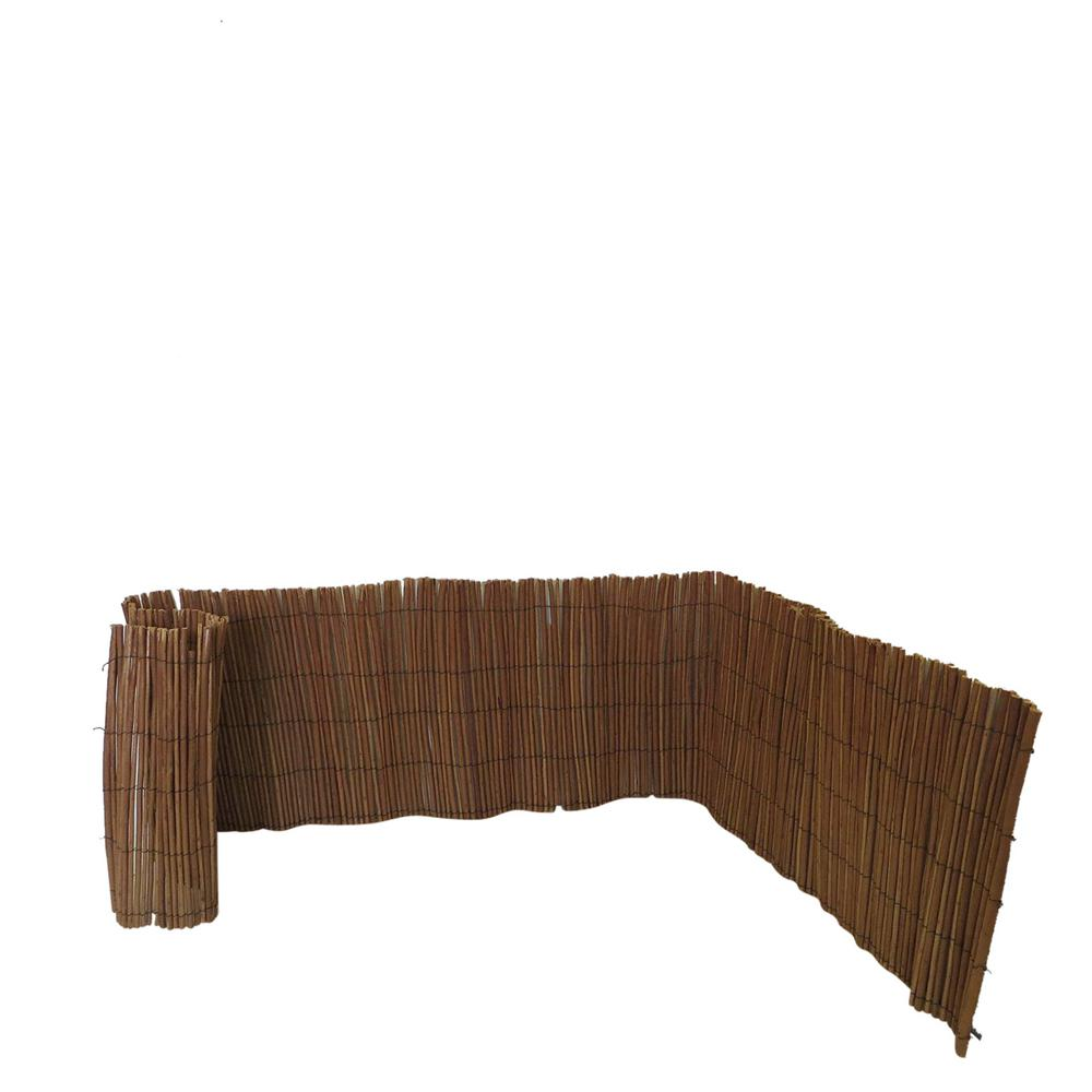 Master Garden Products 24 in. H x 96 in. L Peeled Willow Border Fence