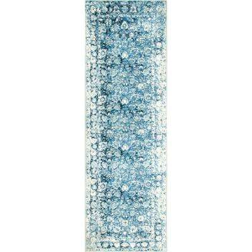 Vintage Floral Boisvert Blue 2 ft. 6 in. x 8 ft. Runner Rug