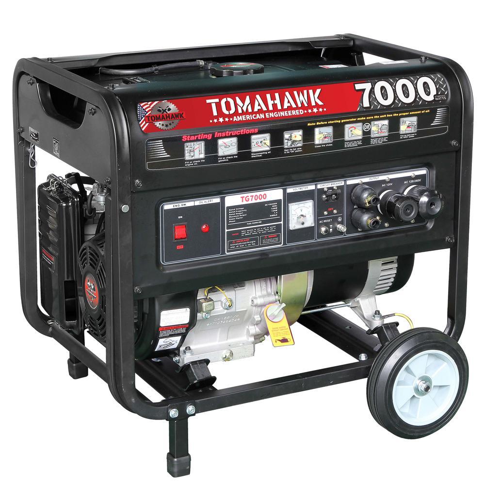 Tomahawk TG7000 5000-Watt Gas Powered Recoil Start Portable Generator with 13 HP Engine by Tomahawk