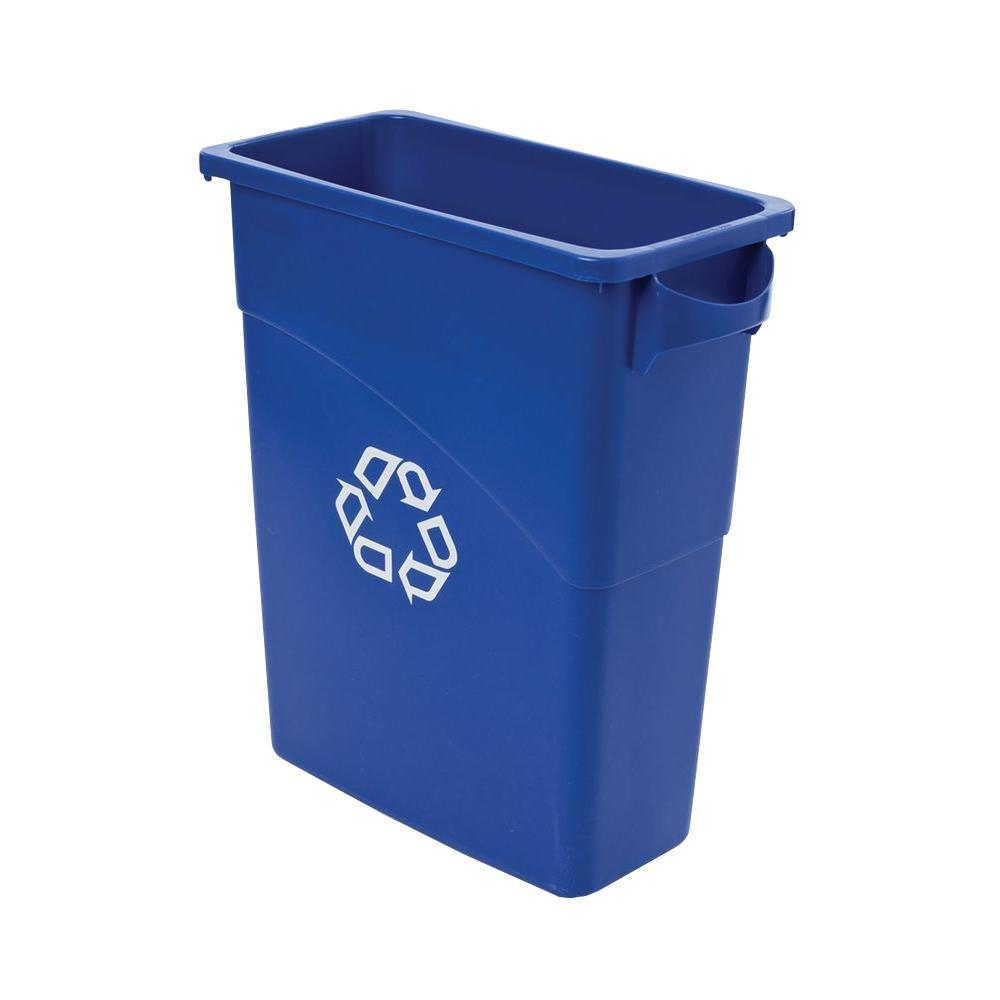 Rubbermaid Commercial Products Slim Jim 15-7/8 Gal. Blue Recycling Container