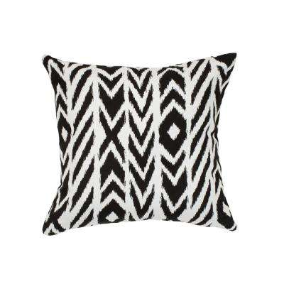 Fire Island Charcoal Square Accent Throw Pillow