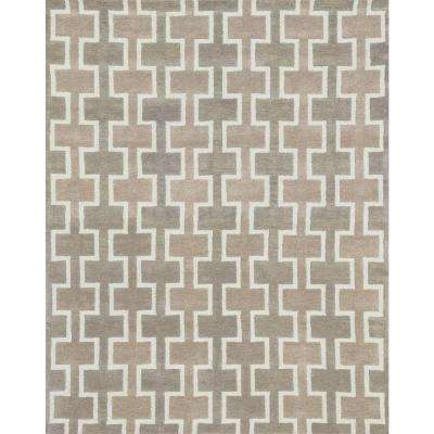 Weston Lifestyle Collection Beige 7 ft. 9 in. x 9 ft. 9 in. Area Rug