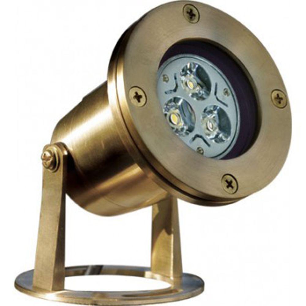 Noa 3-Light Brass Outdoor LED Underwater Light