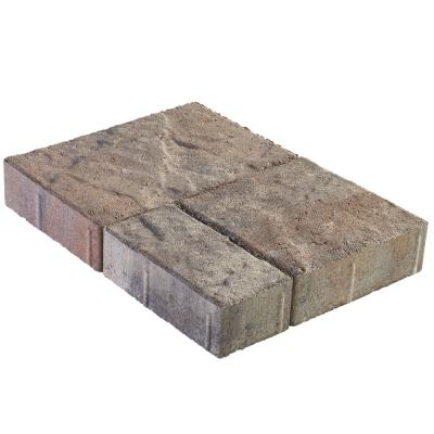 Panorama Demi 3-pc 7.75 in. x 7.75 in. x 2.25 in. Ashley River Blend Concrete Paver (240 Pcs. / 103 Sq. ft. / Pallet)