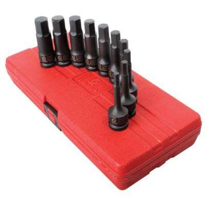 1/2- in. Drive Metric Impact Hex Drive r Set (10-Piece)