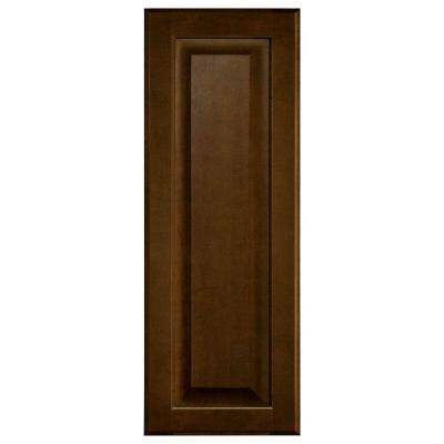 0.75x27.80x10 in. Hampton Wall Cabinet Decorative End Panel in Cognac