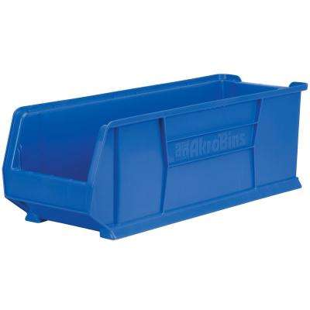 Super-Size AkroBin 11 in. 300 lbs. Storage Tote Bin in Blue with 9.5 Gal. Storage Capacity