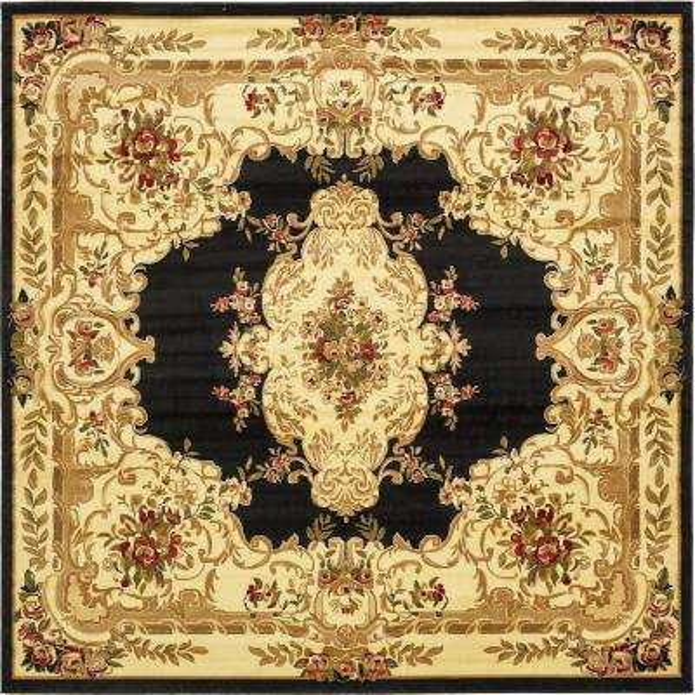 Versailles Charles Black 10' 0 x 10' 0 Square Rug
