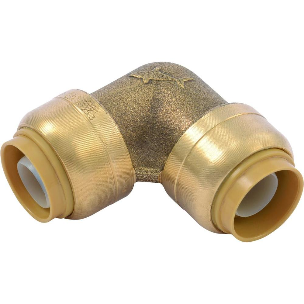 Store SKU #1001563255  sc 1 st  Home Depot & SharkBite 1/2 in. Brass 90-Degree Push-to-Connect Elbow (4-Pack ...