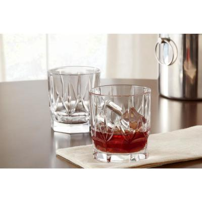 Bellfast 14.5 fl. oz. Lead-Free Crystal Double Old-Fashioned Glasses (Set of 4)