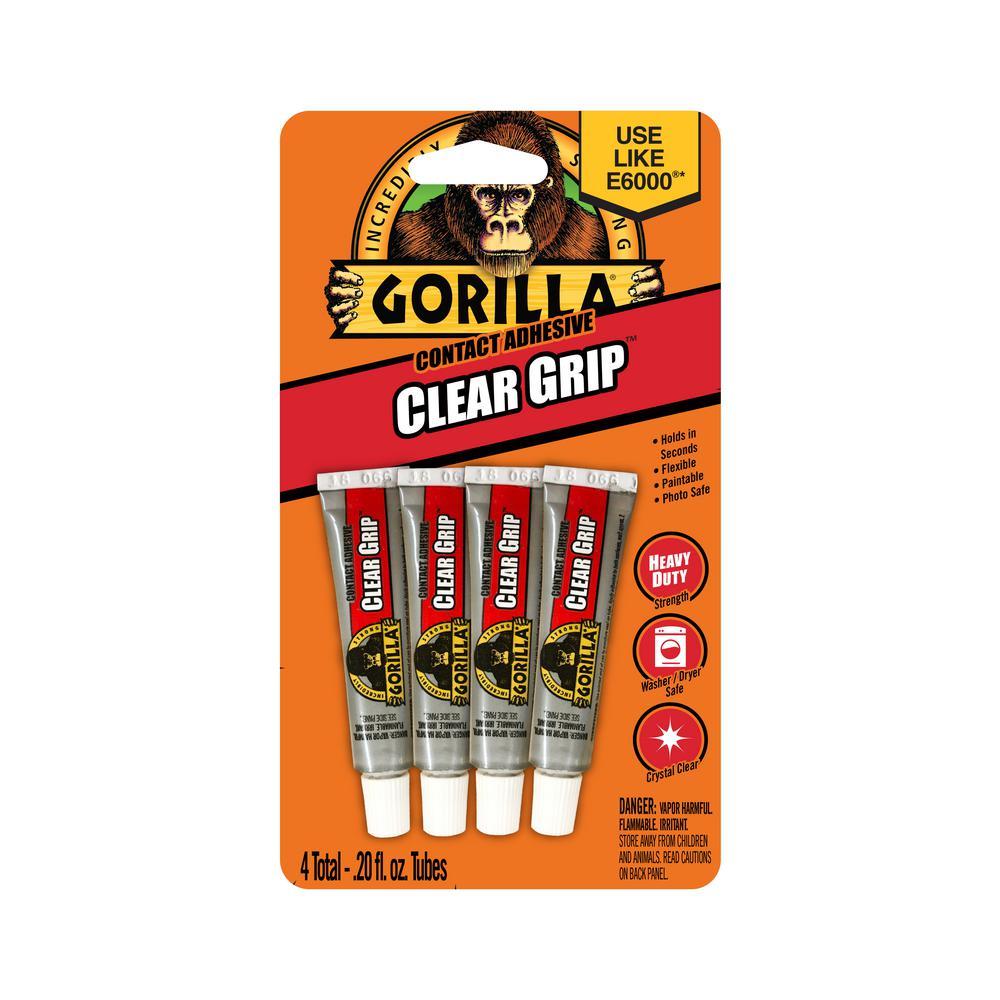 Gorilla Gorilla 0.2 oz. Clear Grip Contact Adhesive Minis 4 Tubes (6-Pack)