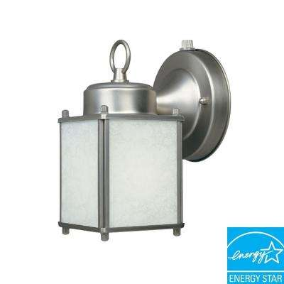 Pewter Outdoor Wall-Mount Lamp