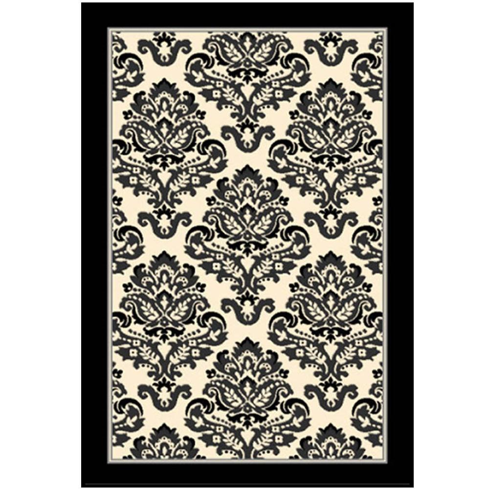 Sams international terra galena black 7 ft 9 in x 10 ft for International decor bath rugs