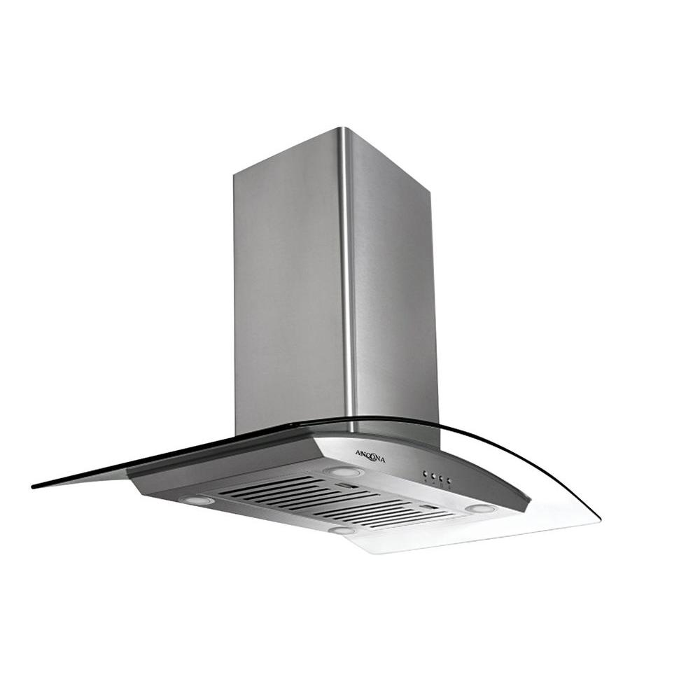 Tornado Island III 36 in. Island-Mounted Convertible Range Hood in Stainless