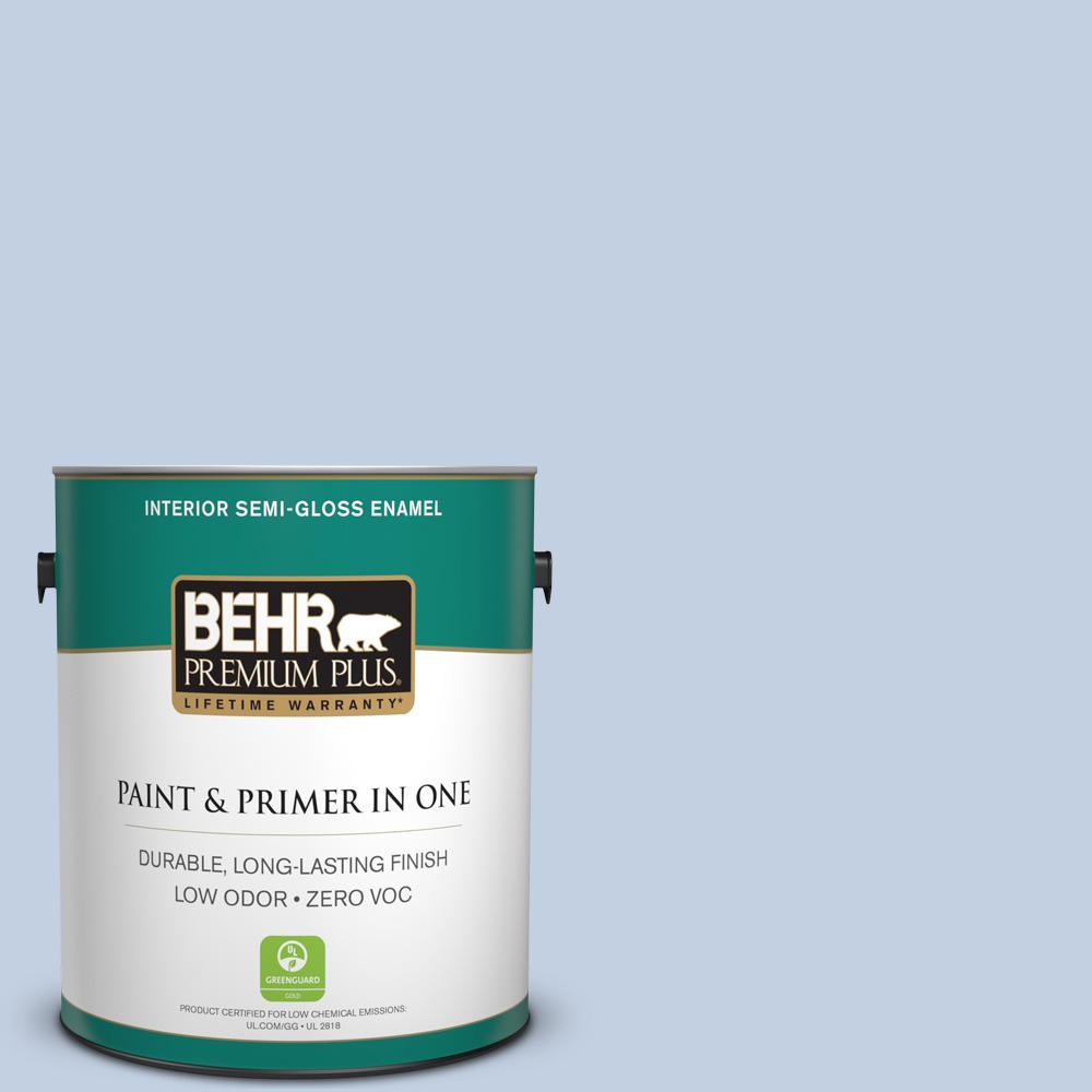 BEHR Premium Plus 1-gal. #S530-1 Soaring Sky Semi-Gloss Enamel Interior Paint