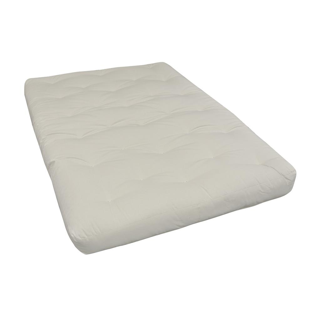 108 Full 10 in. EuroCoil Foam and Cotton Natural Futon Mattress