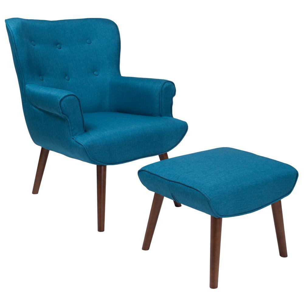Blue Fabric Arm Chair