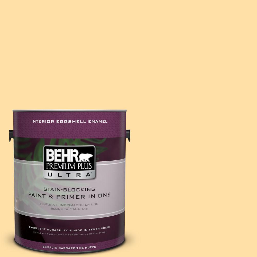 BEHR Premium Plus Ultra 1-gal. #310A-3 Manila Tint Eggshell Enamel Interior Paint