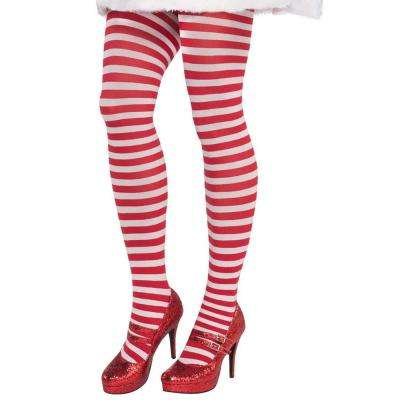 Adult Candy Stripe Christmas Tights (3-Pack)