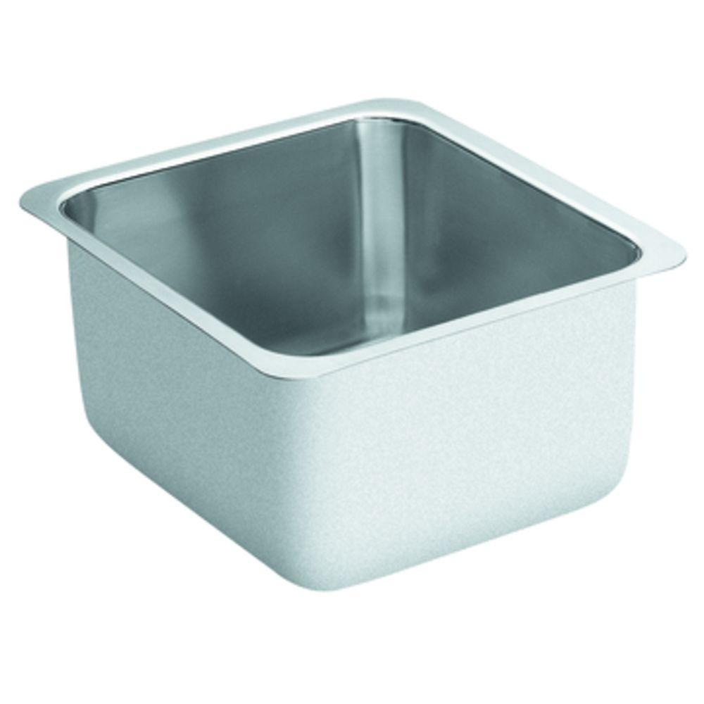 MOEN Lancelot Undermount Stainless Steel 16x18x10 0-Hole Single Bowl Kitchen Sink-DISCONTINUED
