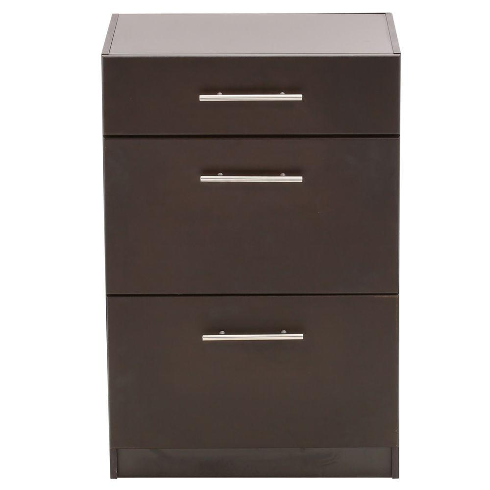 Hampton Bay Select 3-Drawer Base Unit in Espresso