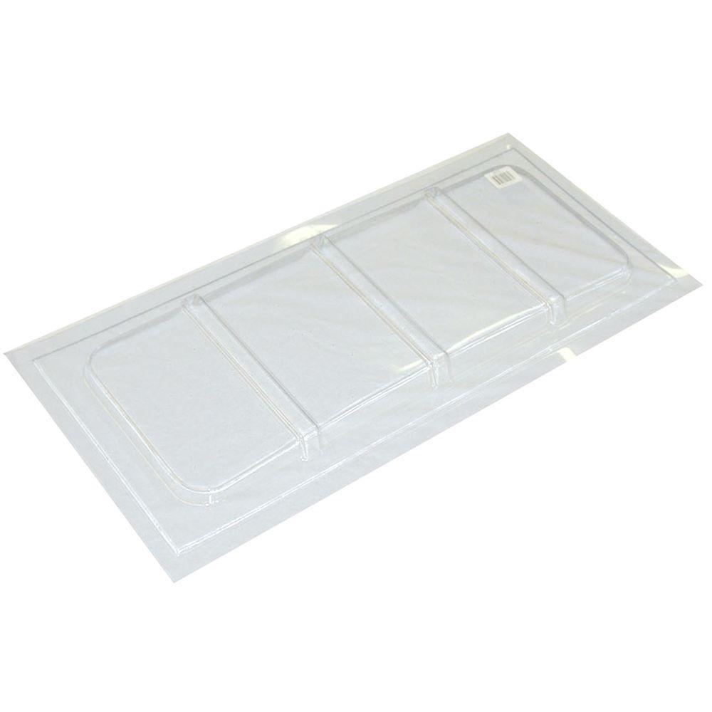 35-1/2 in. x 16-1/2 in. Polyethylene Rectangular Basement Window Cover