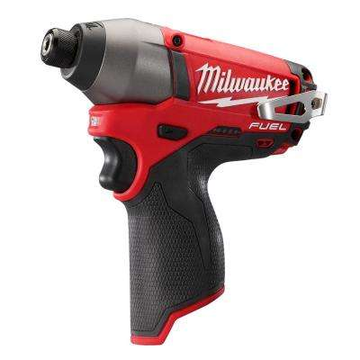 M12 FUEL 12-Volt Cordless Lithium-Ion Brushless 1/4 in. Hex Impact Driver (Tool-Only)