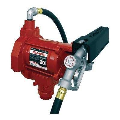 115-Volt AC Fuel HD Transfer Pump with Manual Nozzle