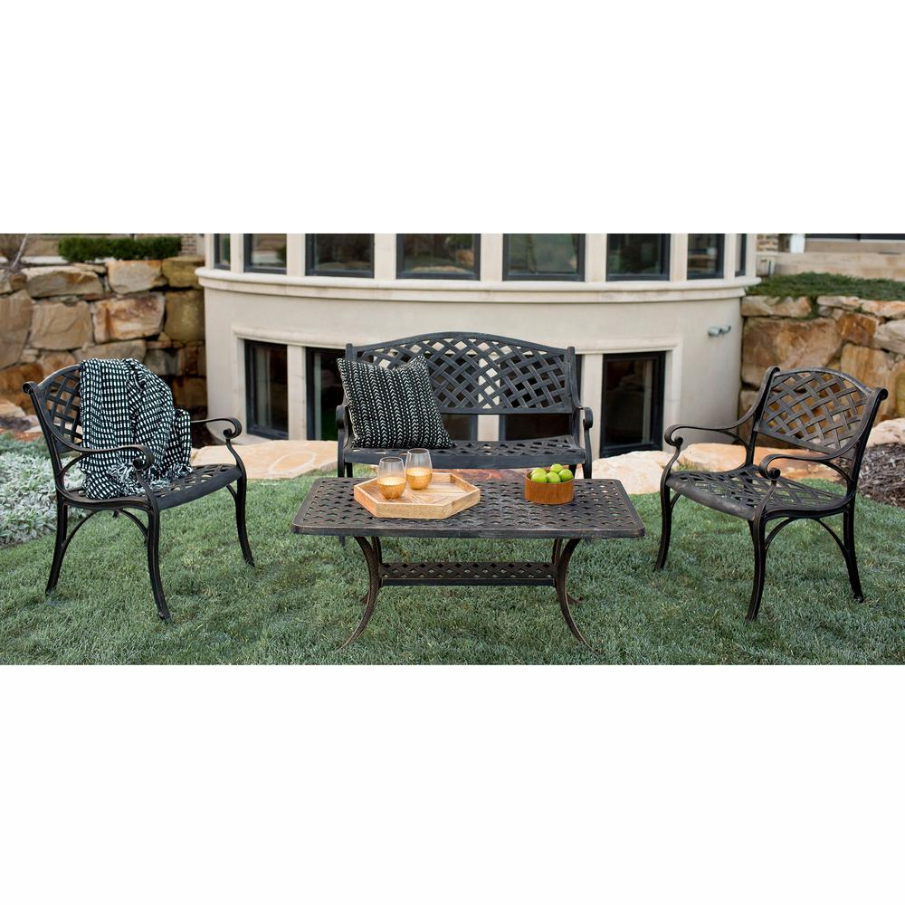 Walker Edison Furniture Company 4 Piece Metal Patio