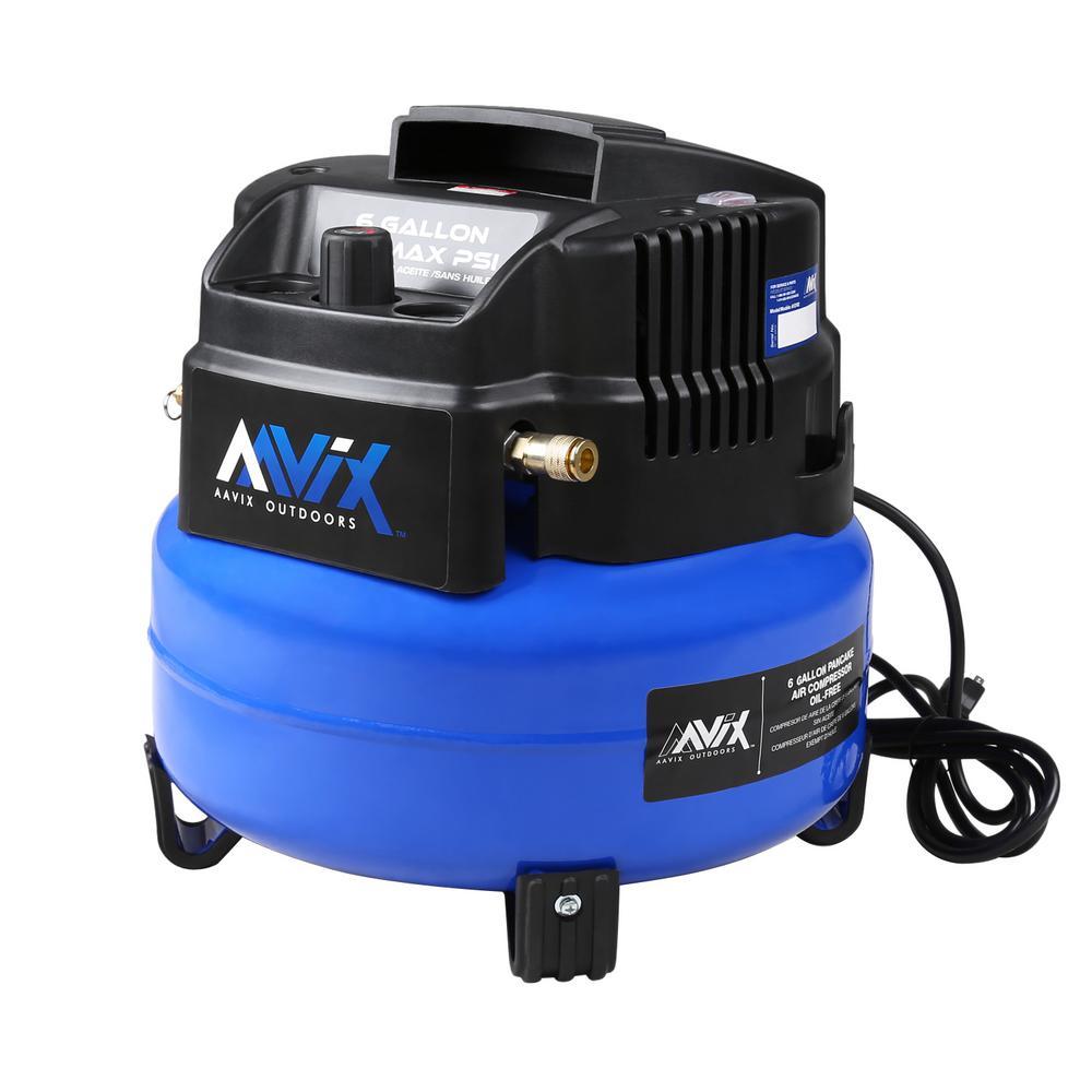 60 Gal. Portable Electric 150 psi Oil-less Pancake Air Compressor