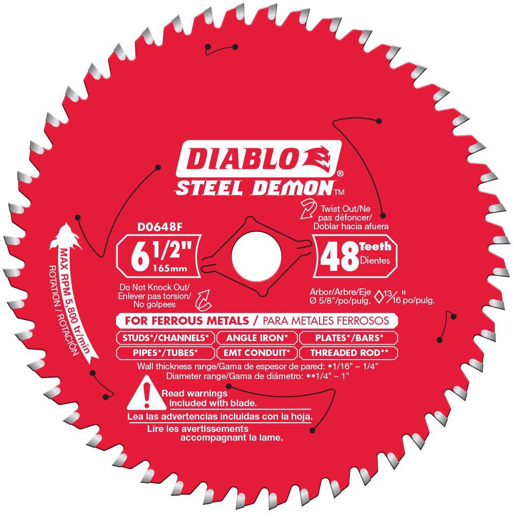 Diablo 7 1 4 In X 70 Tooth Steel Demon Ultra Fine Ferrous Metal Cutting Saw Blade D0770f The Home Depot