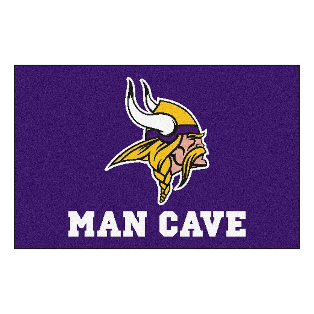 Fanmats Nfl Minnesota Vikings Purple Man Cave 2 Ft X 3 Ft