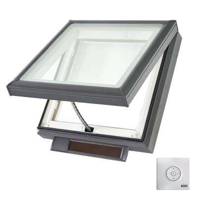22-1/2 in. x 22-1/2 in. Solar Powered Fresh Air Venting Curb-Mount Skylight with Impact Low-E3 Glass