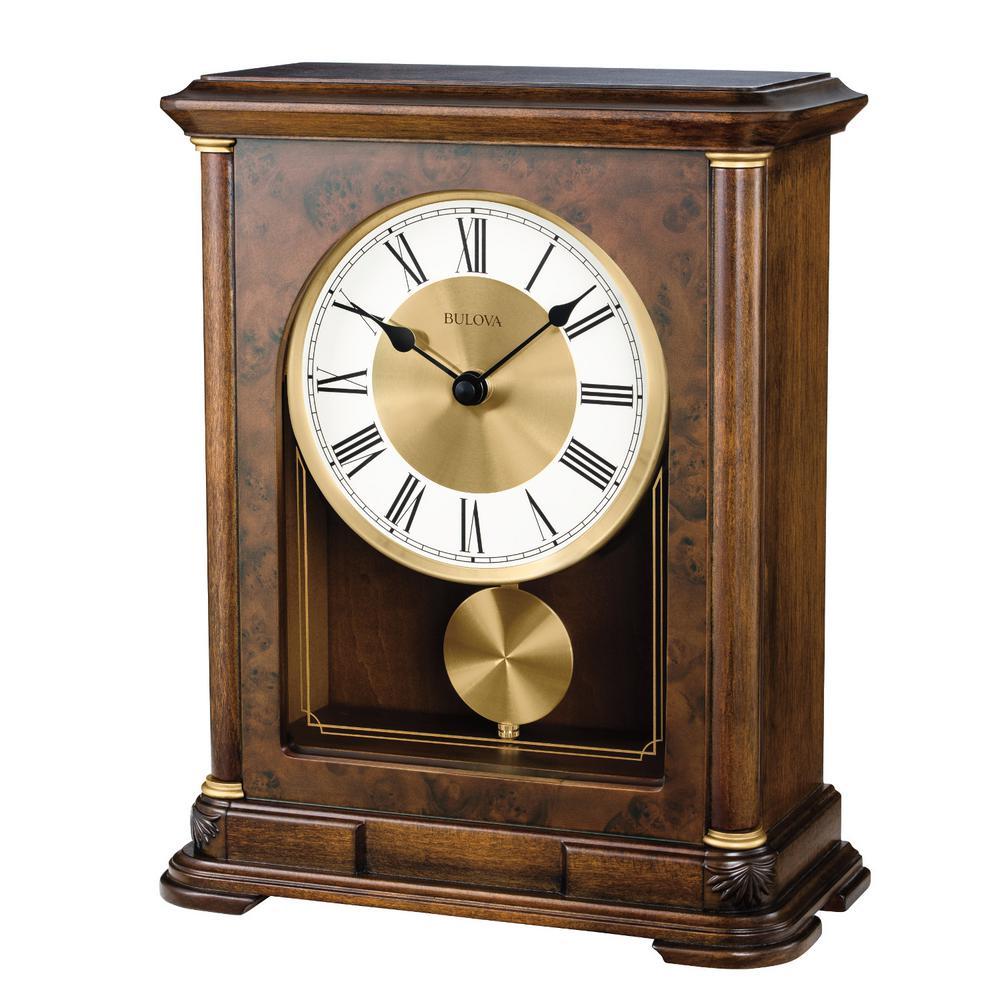 Bulova Hardwood Case Table Pendulum Clock B1860 The Home