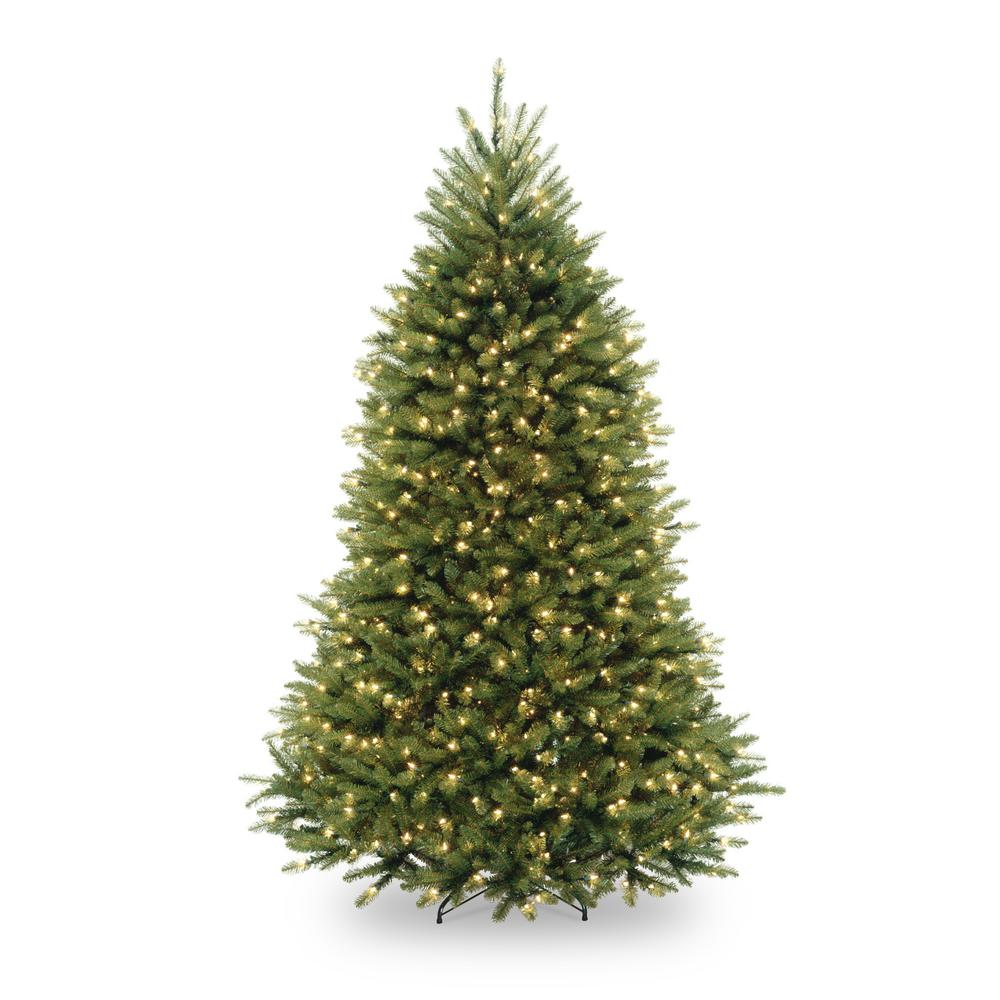 home accents holiday 75 ft pre lit dunhill fir hinged artificial christmas tree with