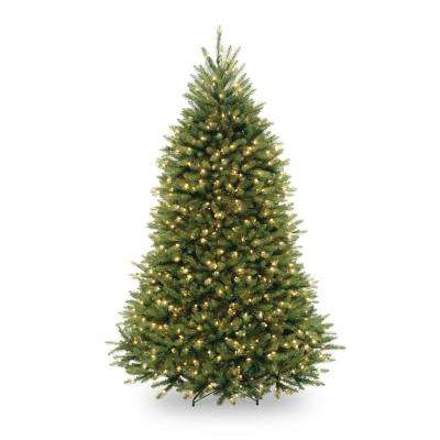 7.5 ft. Pre-Lit Dunhill Fir Hinged Artificial Christmas Tree with Clear Lights
