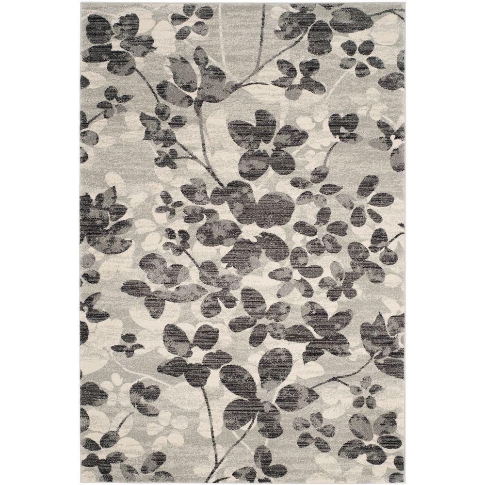 Evoke Grey/Black 4 ft. x 6 ft. Area Rug